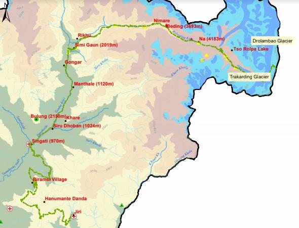 Gauri-Shanker-Trekking-Route Map